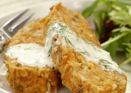 Salmon Loaf with Dill Sauce