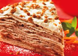 Gâteau de crêpes au caramel croquant