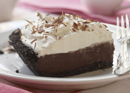Tarte à la crème double chocolat
