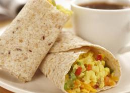 Scrambled Egg Tortilla Wraps