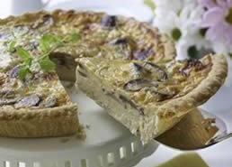 White Cheddar and Mushroom Tart