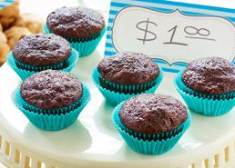 Mini muffins aux courgettes et au chocolat