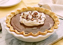 Tarte à la crème au chocolat