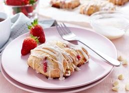 White Chocolate Strawberry Scones