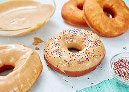 Giant Peanut Butter Glazed Donuts