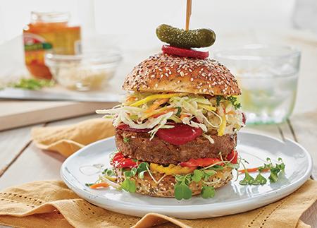 Edgy Veggie Pickle Burger
