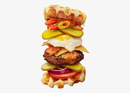 The Hot Waffle Burger