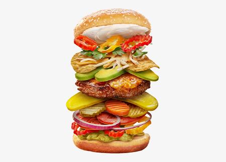 The Smokin' Nacho Burger