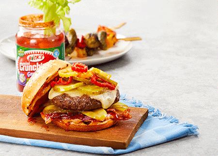 Bick's<sup>®</sup> Sweet Heat Bacon Burger