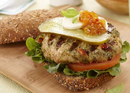 Recipe Image of Pesto Chicken Burgers