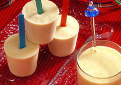 Banana Smoothie Pops