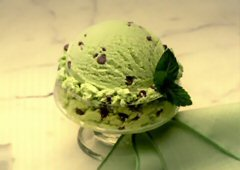 Mint Choco Chip Ice Cream