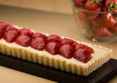 Strawberries ´n Cream Cheese Tart