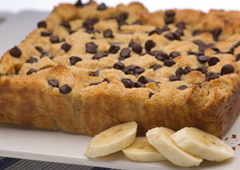 Peanut Butter Chocolate and Banana Bread Pudding