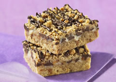 Chewy Chocolate Toffee Squares