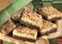 Toffee-Top Cheesecake Bars