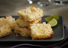 Key Lime Coconut Squares