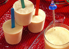 Sucettes glacées smoothie à la banane