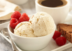 Crème glacée au café au lait