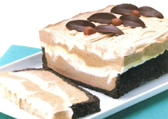 Pain de gâteau au fromage au moka congelé