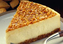 Gâteau au fromage aux amandes pralinées