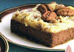 Carrés de gâteau au fromage au chocolat allemand