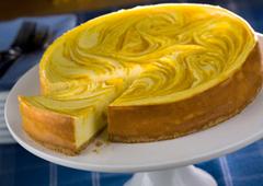 Gâteau au fromage tourbillon de mangue