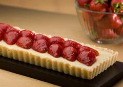 Tarte aux fraises et fromage à la crème