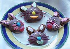Lapins au chocolat et au caramel