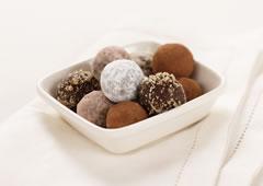 Truffes chocolat et noisettes