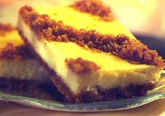 Barres au fromage citronnées