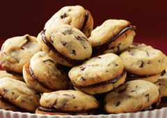 Triple Chocolate Chip Sandwich Cookies