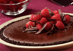 Tarte au chocolat velouté