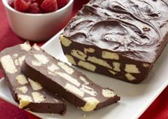 Tranches de biscuit au chocolat