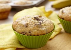 Muffins au pain aux bananes
