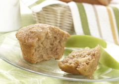 Apple Oatmeal Cinnamon Muffins