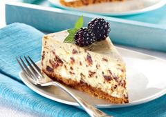 Gâteau au fromage aux trois chocolats
