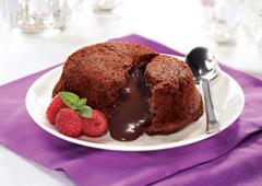 Gâteau au chocolat à lave fondue