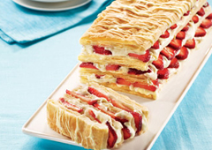 Strawberry White Chocolate Napoleon