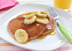Fluffy Banana Pancakes