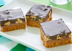 Caramel Nut Chocolate Squares