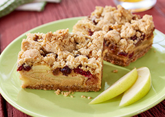 Apple Dulce de Leche Oat Bars