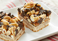 Nutty Dulce de Leche Shortbread Bars