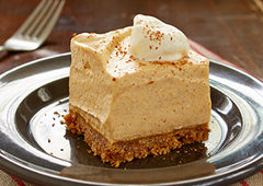 Pumpkin Pie Ice Cream Squares