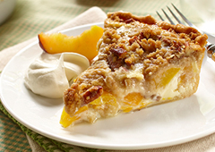 Dutch Peach Pie