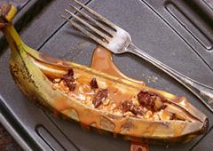 Bateaux banoffee aux bananes