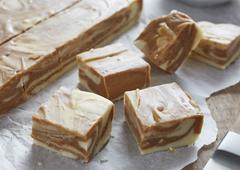 Gingerbread Marble Fudge