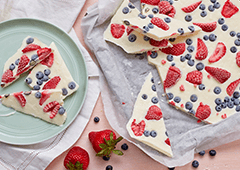 Fresh Fruit and Yogurt Bark