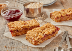 Peanut Butter and Jam Bars