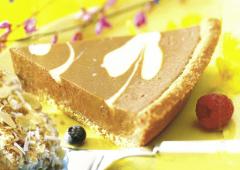 White and Milk Chocolate Cream Pie